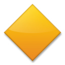 Large Orange Diamond lg emoji