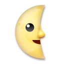 Last Quarter Moon With Face lg emoji
