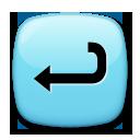Leftwards Arrow With Hook lg emoji