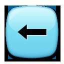 Leftwards Black Arrow lg emoji