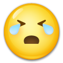 Loudly Crying Face lg emoji