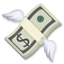 Money With Wings lg emoji