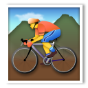Mountain Bicyclist lg emoji