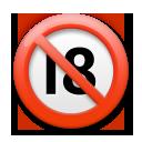 No One Under Eighteen Symbol lg emoji