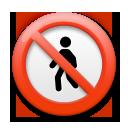 No Pedestrians lg emoji