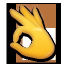 Ok Hand Sign lg emoji