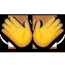 Open Hands Sign lg emoji