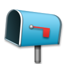 Open Mailbox With Lowered Flag lg emoji