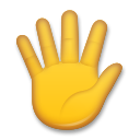 Raised Hand With Fingers Splayed lg emoji