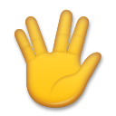 Raised Hand With Part Between Middle And Ring Fingers lg emoji