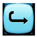 Rightwards Arrow With Hook lg emoji
