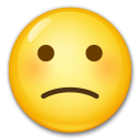 Slightly Frowning Face lg emoji