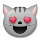 Smiling Cat Face With Heart-shaped Eyes lg emoji