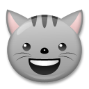 Smiling Cat Face With Open Mouth lg emoji