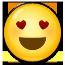Smiling Face With Heart-shaped Eyes lg emoji