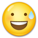 Smiling Face With Open Mouth And Cold Sweat lg emoji