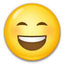 Smiling Face With Open Mouth And Smiling Eyes lg emoji