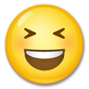 Smiling Face With Open Mouth And Tightly-closed Eyes lg emoji