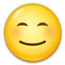 Smiling Face With Smiling Eyes lg emoji