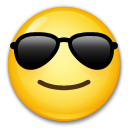 Smiling Face With Sunglasses lg emoji