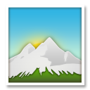 Snow Capped Mountain lg emoji