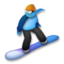 Snowboarder lg emoji