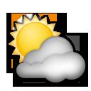 Sun Behind Cloud lg emoji