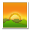 Sunrise Over Mountains lg emoji