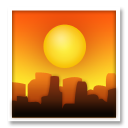 Sunset Over Buildings lg emoji