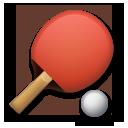 Table Tennis Paddle And Ball lg emoji