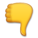 Thumbs Down Sign lg emoji