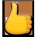 Thumbs Up Sign lg emoji