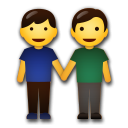 Two Men Holding Hands lg emoji
