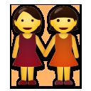 Two Women Holding Hands lg emoji