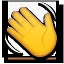 Waving Hand Sign lg emoji