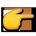 White Right Pointing Backhand Index lg emoji