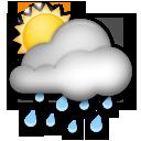 White Sun Behind Cloud With Rain lg emoji
