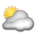 White Sun Behind Cloud lg emoji