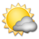 White Sun With Small Cloud lg emoji
