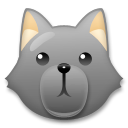 Wolf Face lg emoji