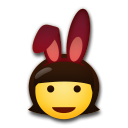 Woman With Bunny Ears lg emoji