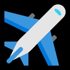 Airplane microsoft emoji