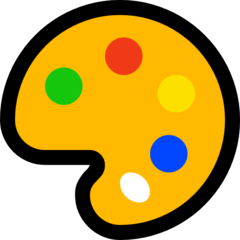 Artist Palette microsoft emoji