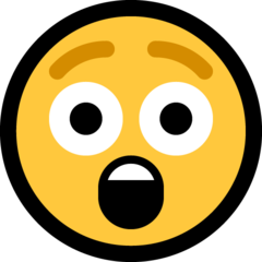Astonished Face microsoft emoji
