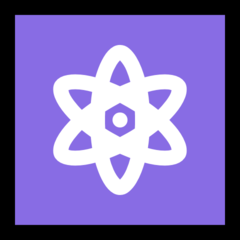 Atom Symbol microsoft emoji