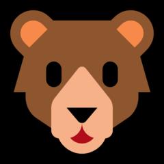 Bear Face microsoft emoji