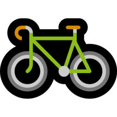Bicycle microsoft emoji