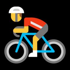 Bicyclist microsoft emoji