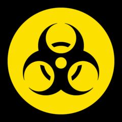 Biohazard Sign microsoft emoji
