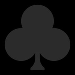 Black Club Suit microsoft emoji